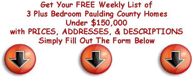 free list with arrow to paulding county homes 150k